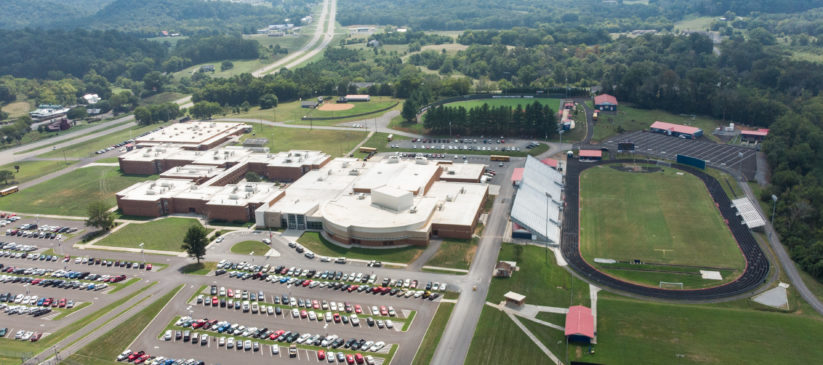 Aerial view of Jefferson County High School, in Tennessee