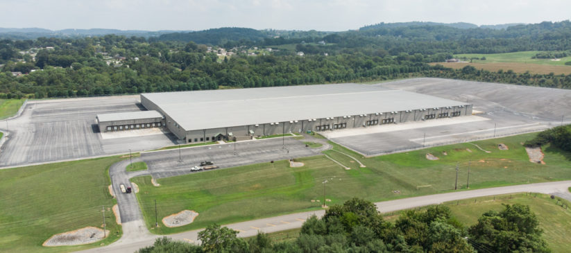 Industrial Site, aerial view, located in Jefferson County, TN